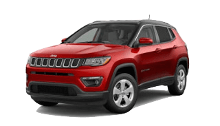 A red 2019 Jeep Compass