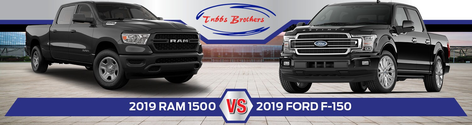 A comparison of the 2019 Ram 1500 & Ford F-150