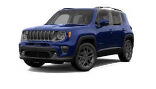 A blue 2019 Jeep Renegade