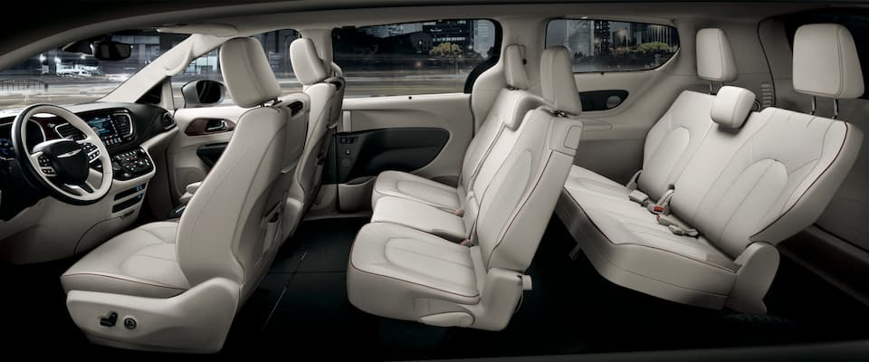 The interior seating in the 2019 Chrysler Pacifica