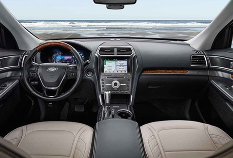 The dashboard of the 2019 Ford Explorer