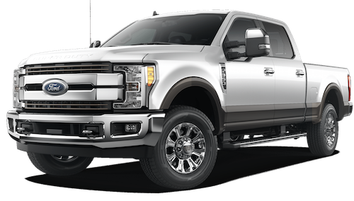 A white 2019 Ford F-350