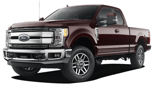 A magma red 2019 Ford F-250