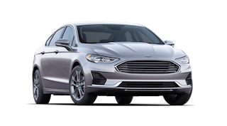 A silver 2019 Ford Fusion