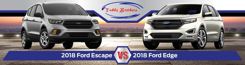 Ford Edge Vs Escape >> 2018 Ford Escape Vs 2018 Ford Edge Sandusky Mi