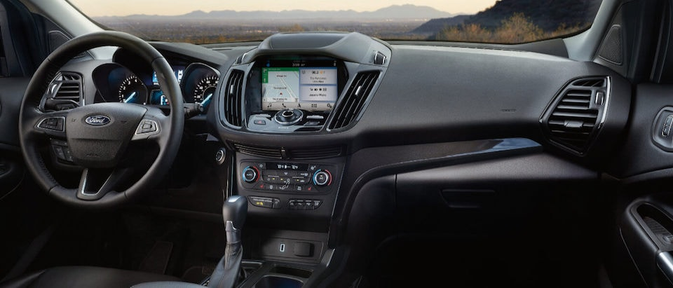 The dashboard on the 2019 Ford Escape