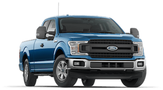 A blue 2019 Ford F-150
