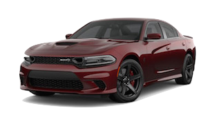 A dark red 2019 Dodge Charger