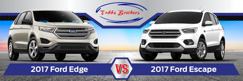 Ford Edge Vs  Ford Escape Banner