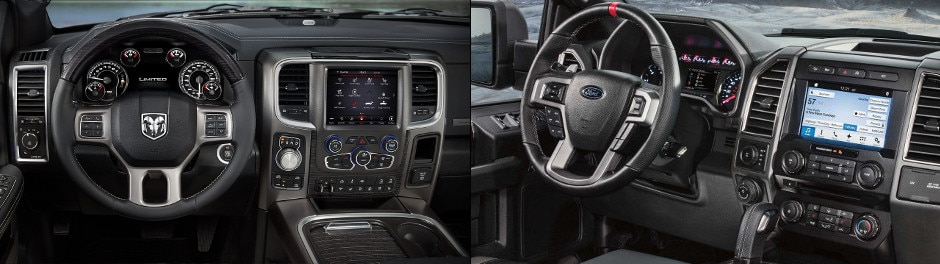 2018 RAM 1500 and 2018 Ford F-150 Interior Dashboards