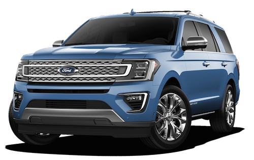 A blue 2019 Ford Expedition