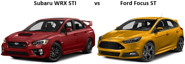 Subaru WRX vs Ford Focus ST in Tucson, AZ