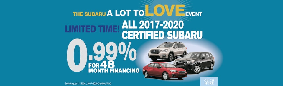 0.99 For 48 Months on all Certified Pre-Owned on 2017-2020!