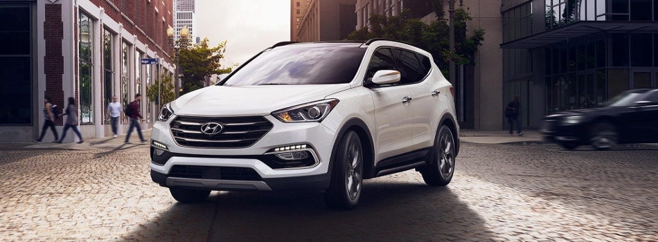 2017 Hyundai Santa Fe Sport parked in city street