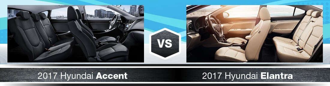 2017 Hyundai Accent Vs. 2017 Hyundai Elantra Interiors