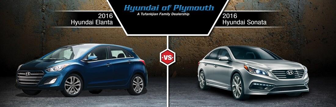 Elantra Vs Sonata >> 2016 Hyundai Elantra Vs 2016 Hyundai Sonata Plymouth Ma Hyundai
