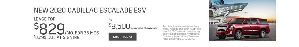 New 2020 CADILLAC Escalade ESV