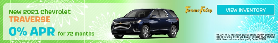 New 2021 Chevrolet Traverse