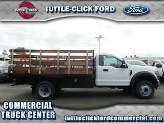 2018 Ford Super Duty F-450 DRW XL Harbor 12' Stake Bed V-10 Truck Regular Cab