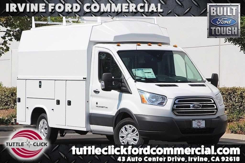 2018 Ford Transit-350 Cutaway SRW XL KUV 11' Plumber Body Gas Truck