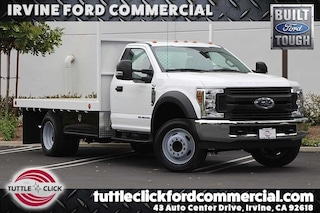 2018 Ford Super Duty F-550 DRW XL Scelzi 12' Flat Bed Diesel Truck Regular Cab