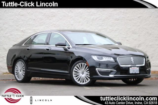 Used 2017 Lincoln Mkz Hybrid Sedan Black Velvet For Sale In Irvine