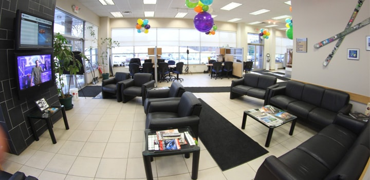 Vermont Subaru Service Lounge at Twin City Subaru