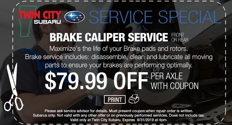 Twin City  Subaru Brake Service Coupon