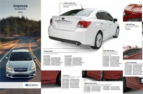2016 Subaru Impreza Accessories Brochure