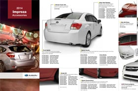 2014 Subaru Impreza Accessories Brochure