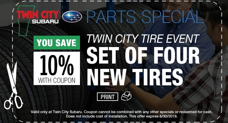 Subaru Parts 10% Off Tires Coupon