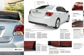 2015 Subaru Impreza Accessories Brochure