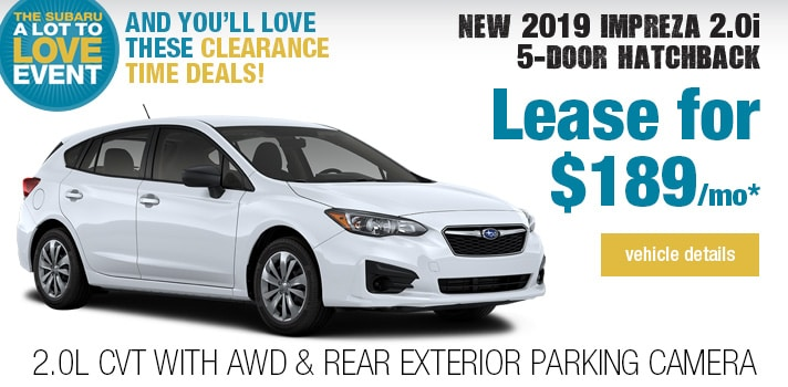 Twin City Subaru  Impreza Lease Deal