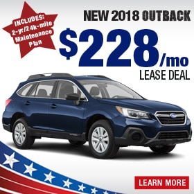 New 2018 Outback Lease Deal