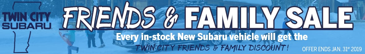 Twin City Subaru Friends and Family Sale