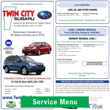 New Subaru Deals