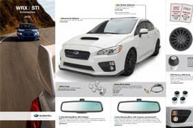 2015 Subaru WRX Accessories Brochure