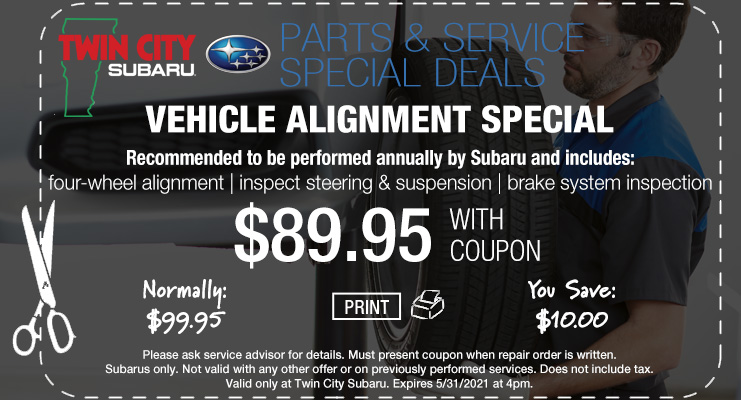 Subaru  Service Subaru Alignment Coupon