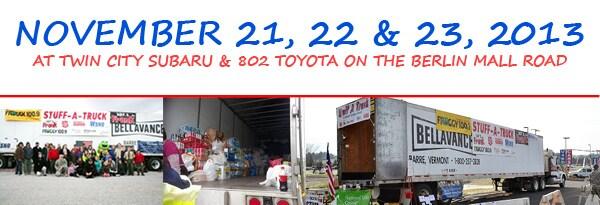 Stuff a Truck 2013 Dates Location