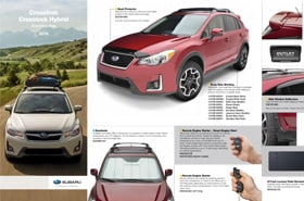 2016 Subaru Crosstrek Accessories Brochure