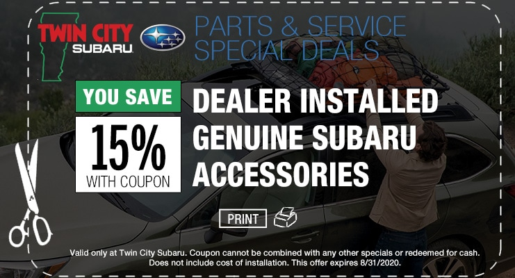 Twin City Subaru Accessories Coupon