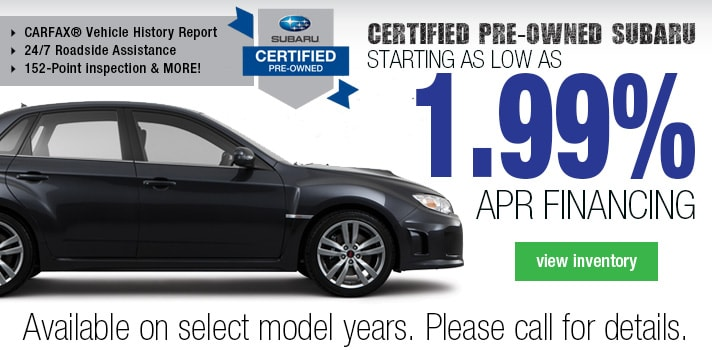 Subaru Certified Finance  Deal