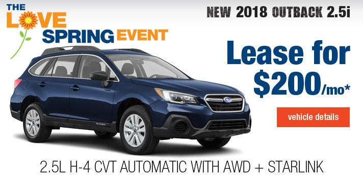 New Subaru Outback Lease Deal