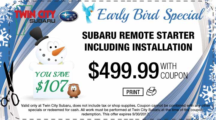 Subaru Remote Starter Early Bird Special