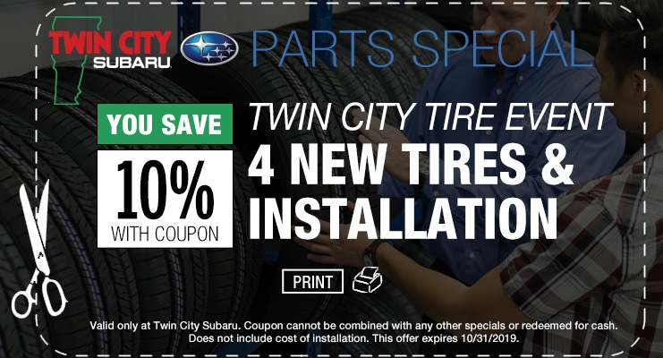 Subaru Tire Coupon