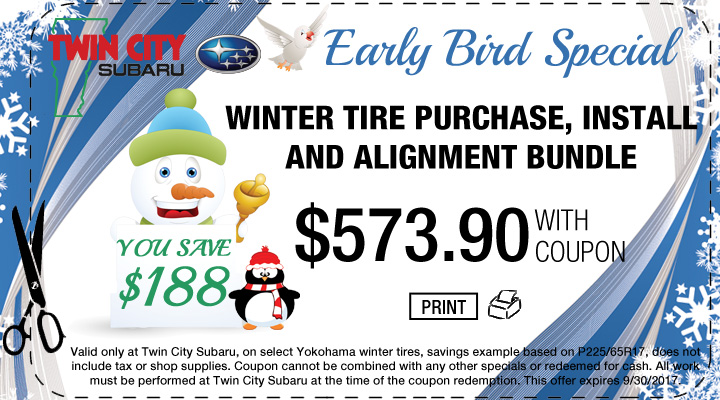 Subaru Winter Tire Early Bird Special