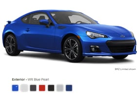 Subaru brz colors