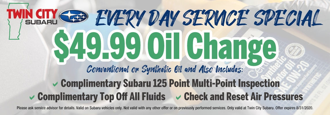 Twin City Subaru Oil Change  Everyday Low Price