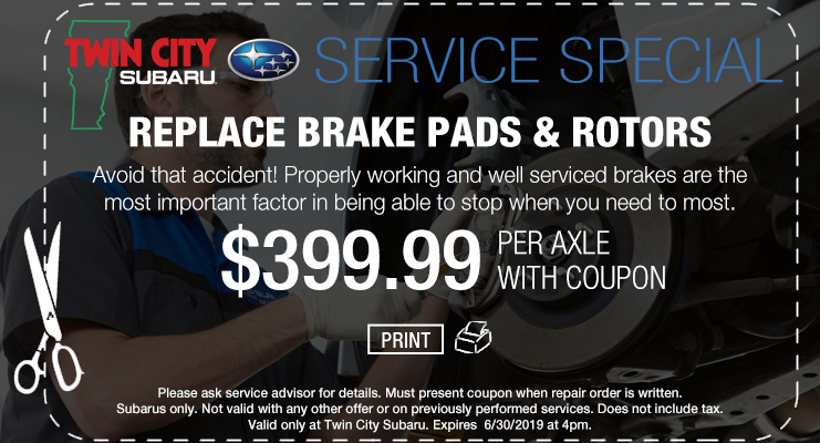 Subaru Brake Repair Coupon