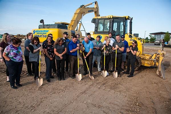 Groundbreaking ceremony for Twin Falls Subaru's new facility on Poleline Rd, July, 2020